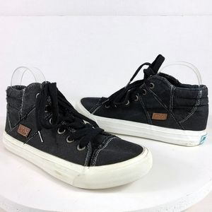 Blowfish High Top Sneakers Women's Size 7.5 Black Canvas Padded
